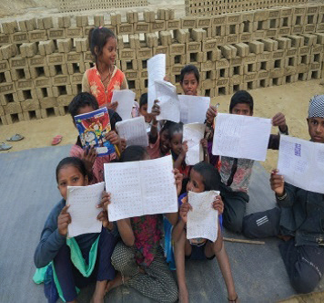 Brick-Kiln Industry children counselled on the importance of schooling - Aasaman Nepal